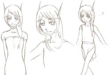 Selithiel Sketches by Adythalin