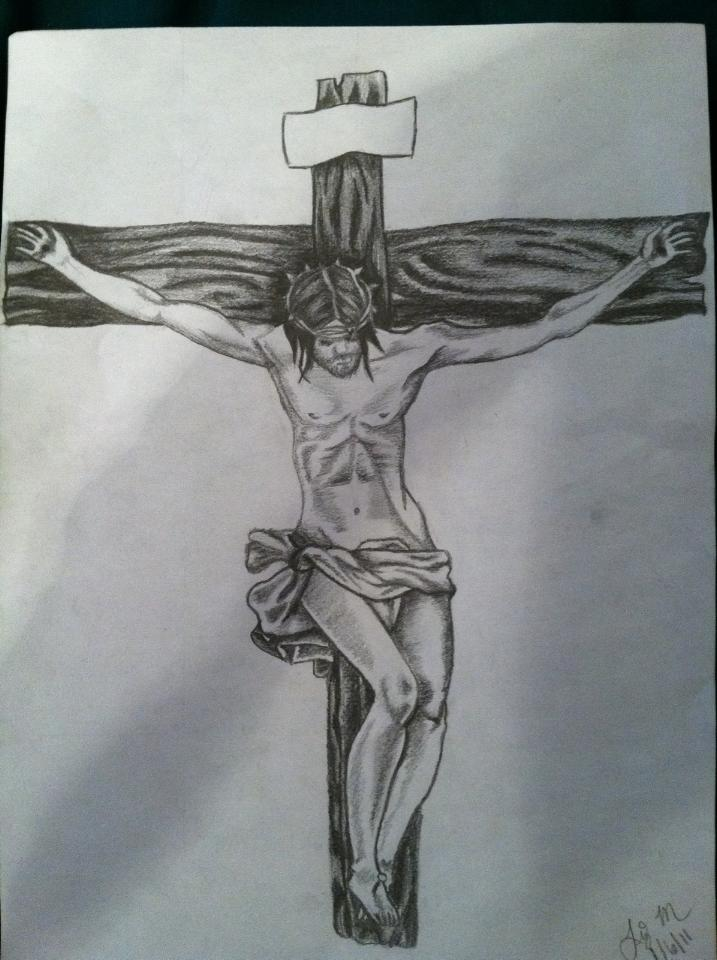 Drawings Of Jesus On The Cross Pictures to Pin on ...