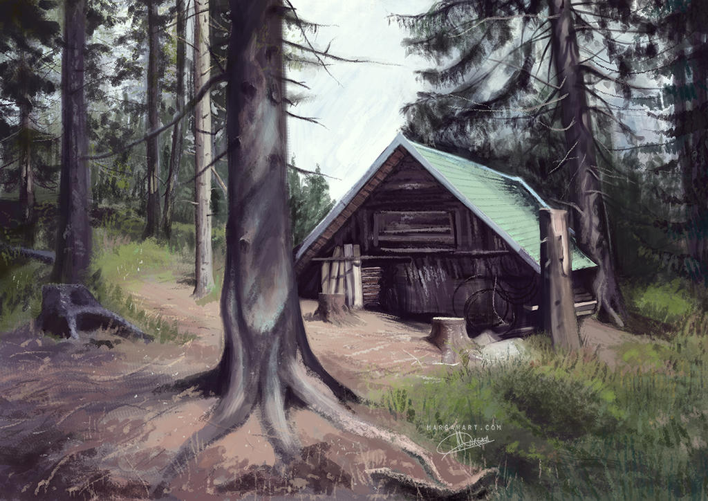 Cabin In The Woods By Margaw On Deviantart