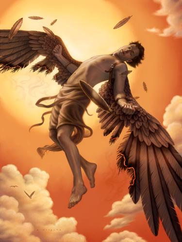 The Downfall of Icarus by allendouglasstudio