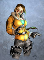 Collab: Lara coloured by Lmih