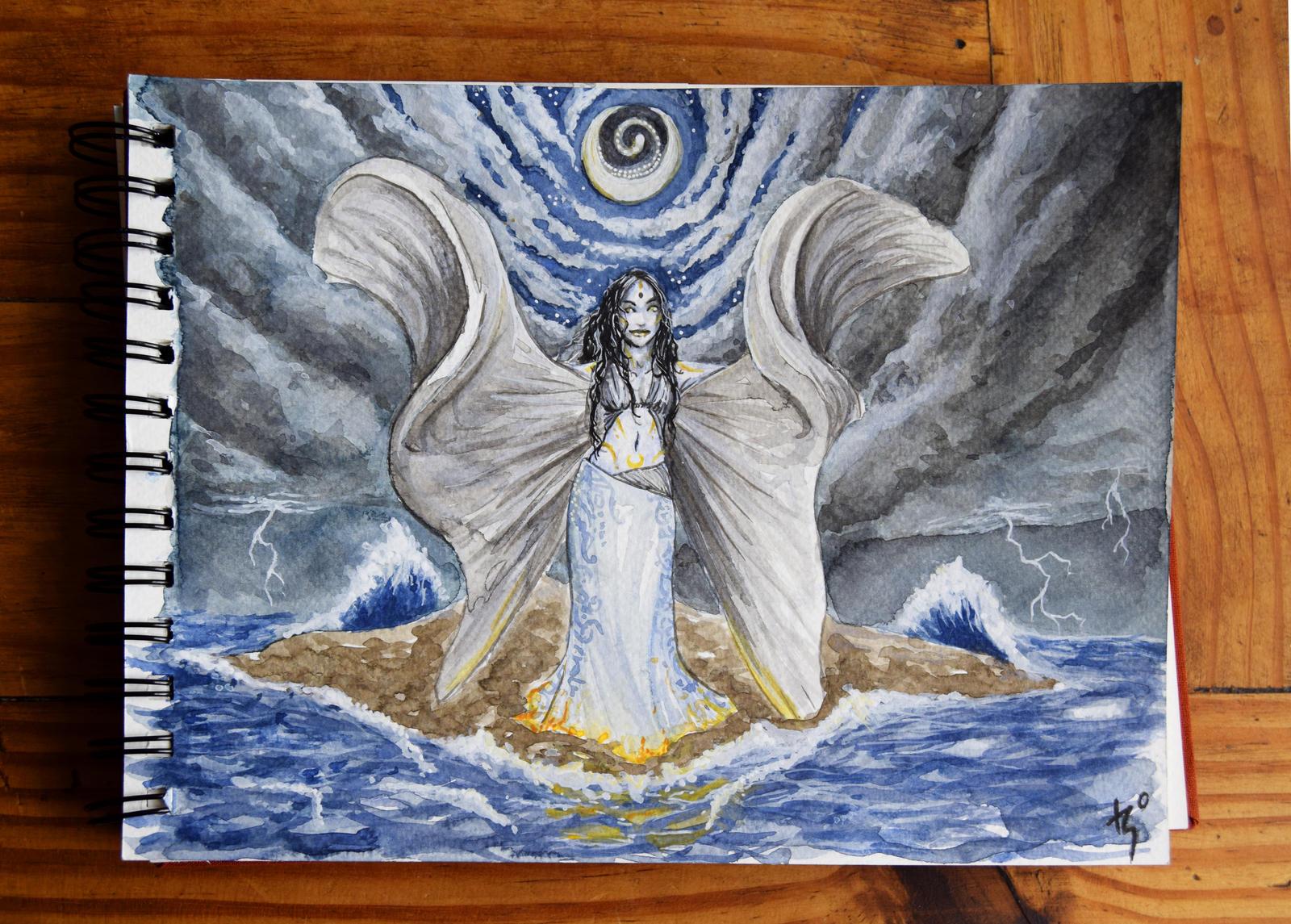 Night Moon Goddess by Lmih
