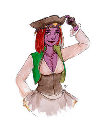 [Inktober2018] Pirate Aunia by Lmih