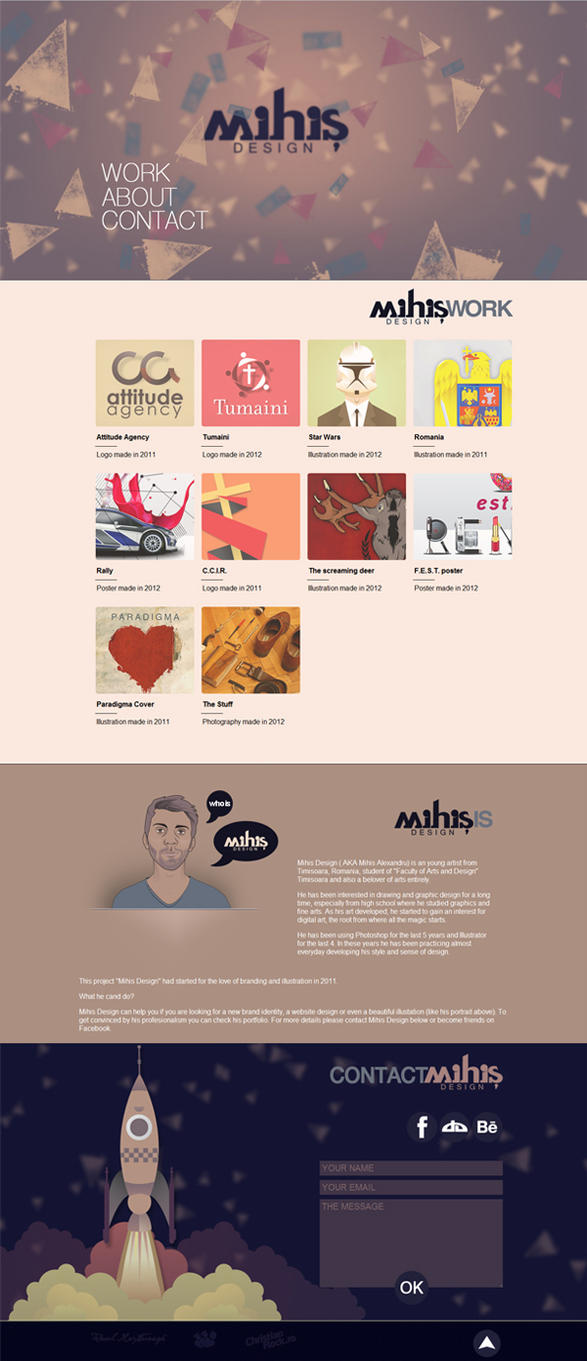 Mihis Design website by MihisDesign