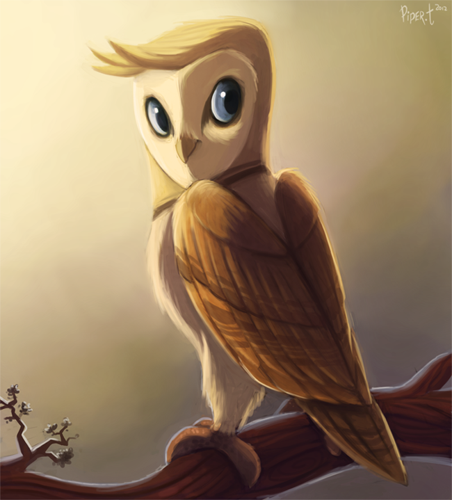 2.2 - Barn Owl Art Trade (1hr + something) Penalty by Cryptid-Creations