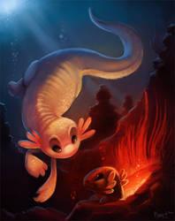 DAY 5. Axolotls (1 hr + 25 Minutes)