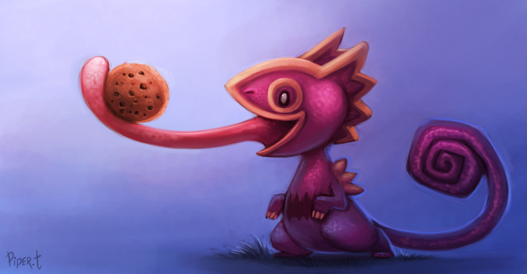 DAY 52. Purple Kecleon (30 Minutes) by Cryptid-Creations