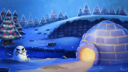 DAY 125. Animal Crossing - Winter (35 Minutes) by Cryptid-Creations