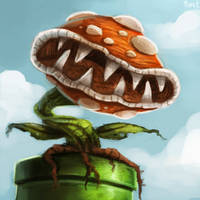 DAY 181. Piranha Plant (25 Minutes) by Cryptid-Creations