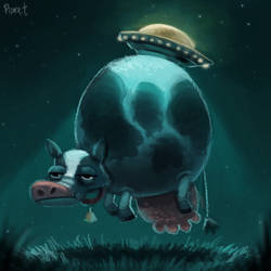 DAY 188. Cows vs. Aliens (25 Minutes) by Cryptid-Creations