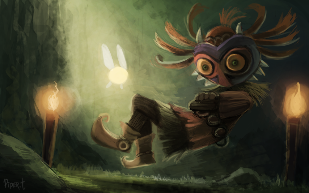 Skull Kid WIP PART 1 50 Minutes By Cryptid
