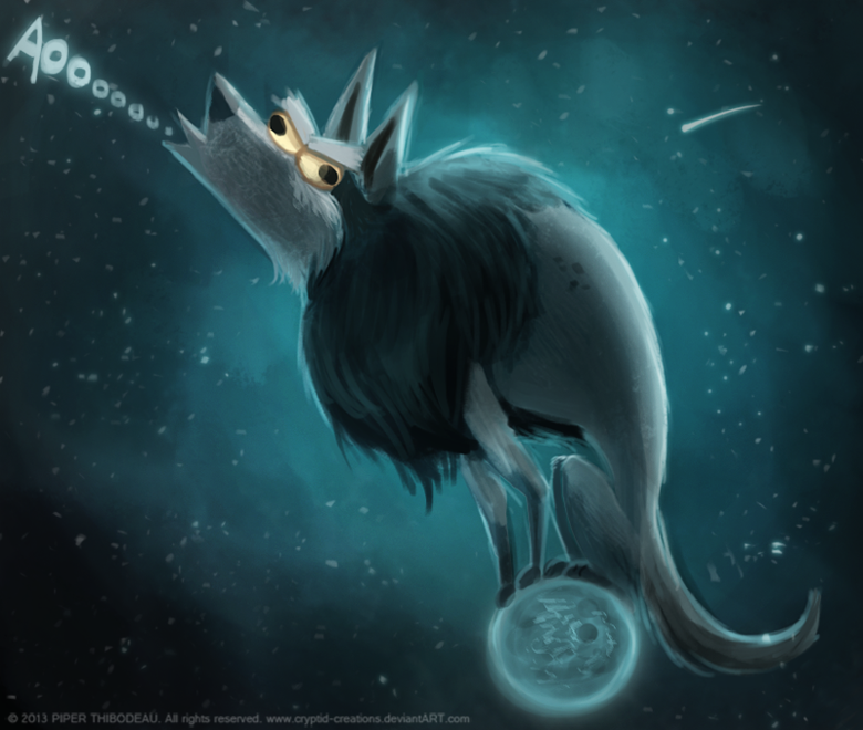 DAY 274 Cosmic Wolf By Cryptid Creations On DeviantArt