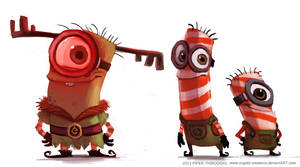 DAY 380. Christmas Minion Designs by Cryptid-Creations