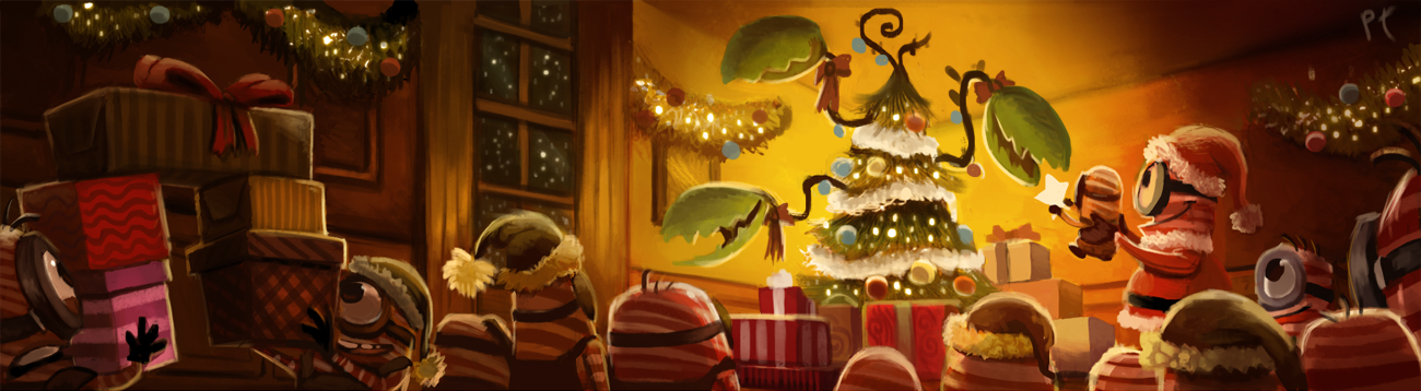 DAY 384. Candy Cane Minions - Final by Cryptid-Creations