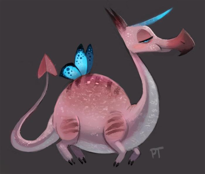 Cryptid >> DAY 422. Some goddamn flamingo unicorn dragon by Cryptid ...