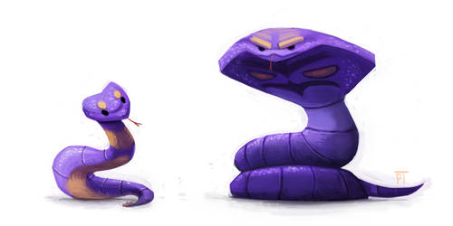 DAY 444. Kanto 023 - 024 by Cryptid-Creations