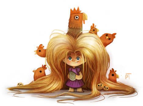 DAY 492. Sketch Dailies Challenge - Rapunzel