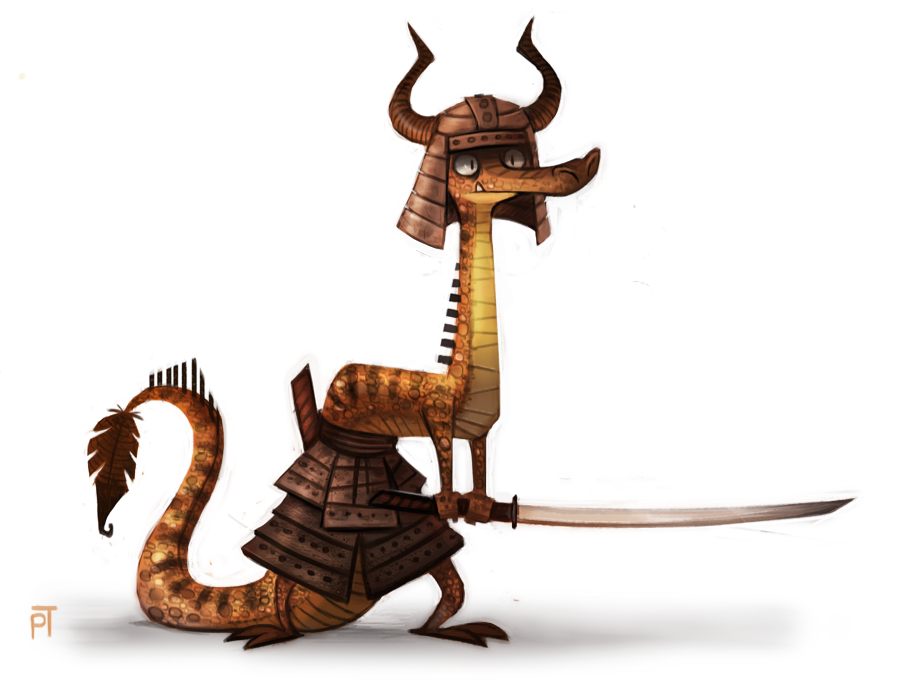 Sketch Dailies Challenge - Samurai by Cryptid-Creations