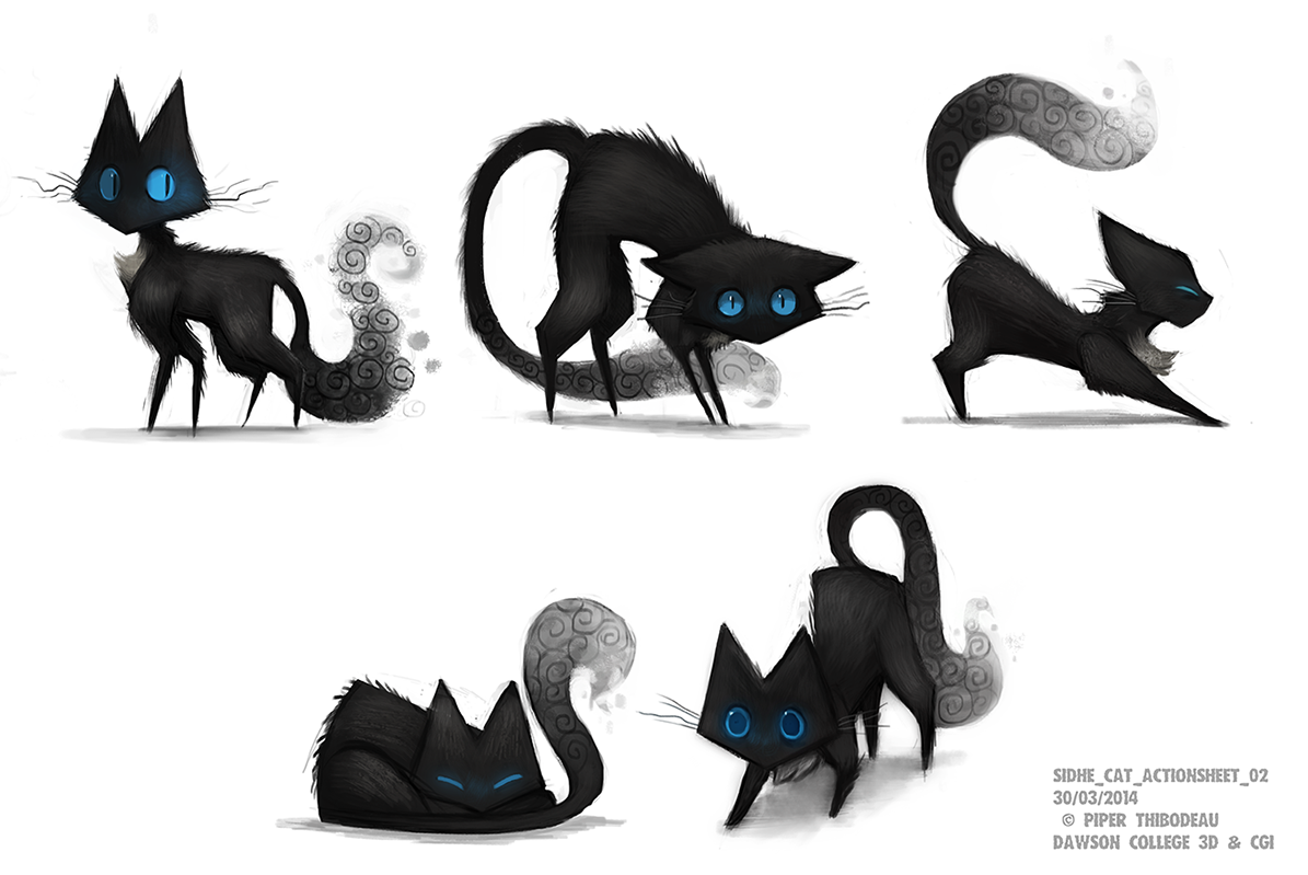Sidhe - Cat Action Sheet 01 by Cryptid-Creations