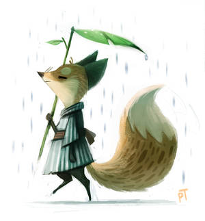 Day 516. Quickie Fox Sketch and Tablet Update :)