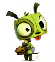 Day 583. Invader Zim - GIR by Cryptid-Creations