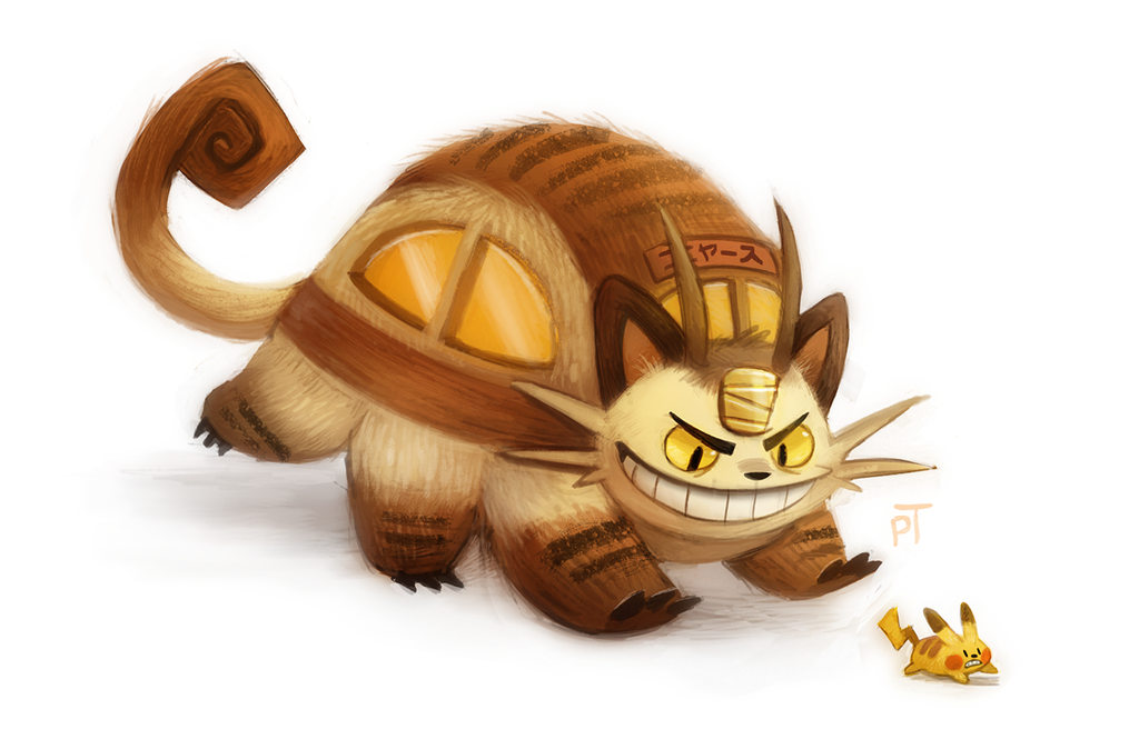 Day 587. Meowthbus by Cryptid-Creations