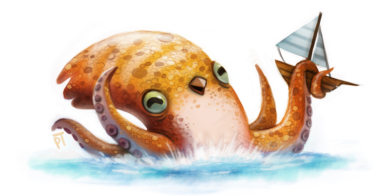 Cryptid >> Day 588. Sketch Dailies Challenge - Kraken by Cryptid ...