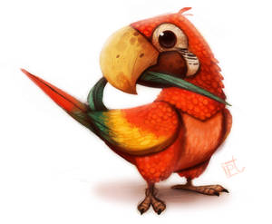 Daily Painting 612# Macaw