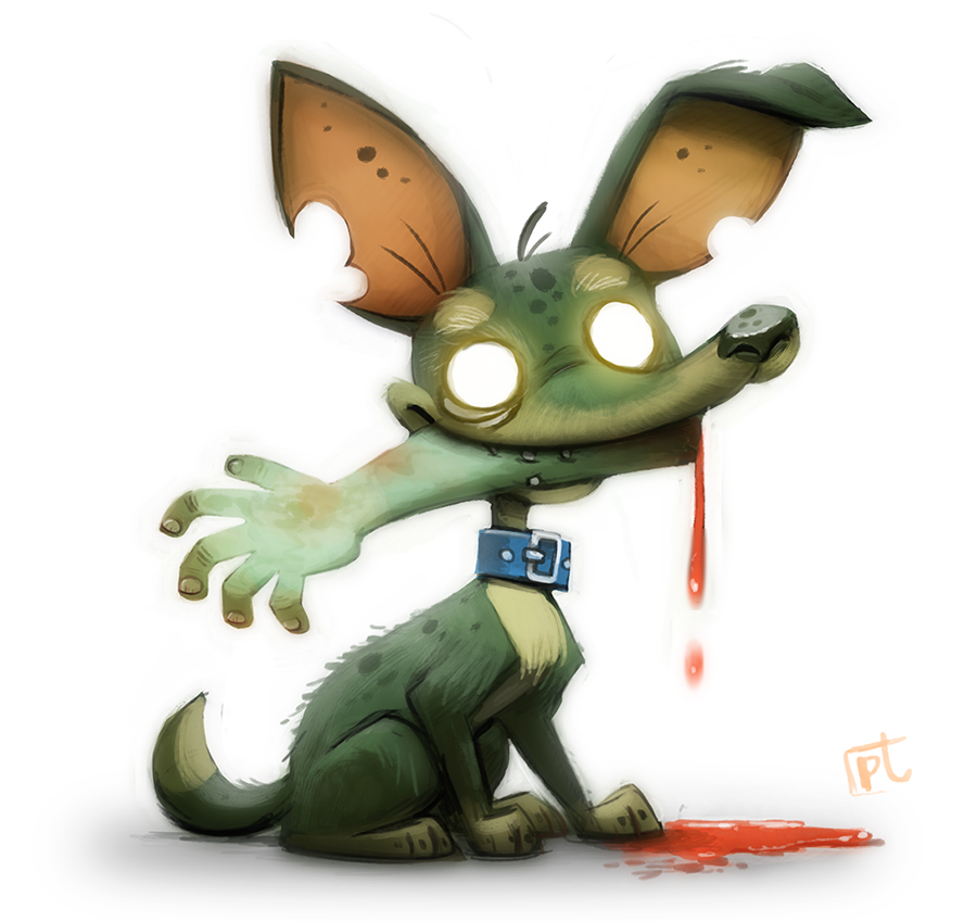 daily painting 618 zombie dog by cryptid creations on