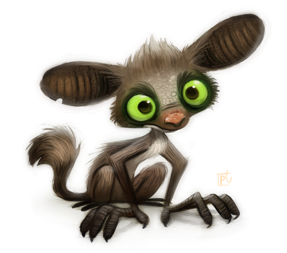 Daily Paint #625 - Aye-Aye by Cryptid-Creations