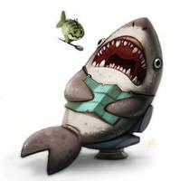 Daily Paint #627 - Shark Dentist