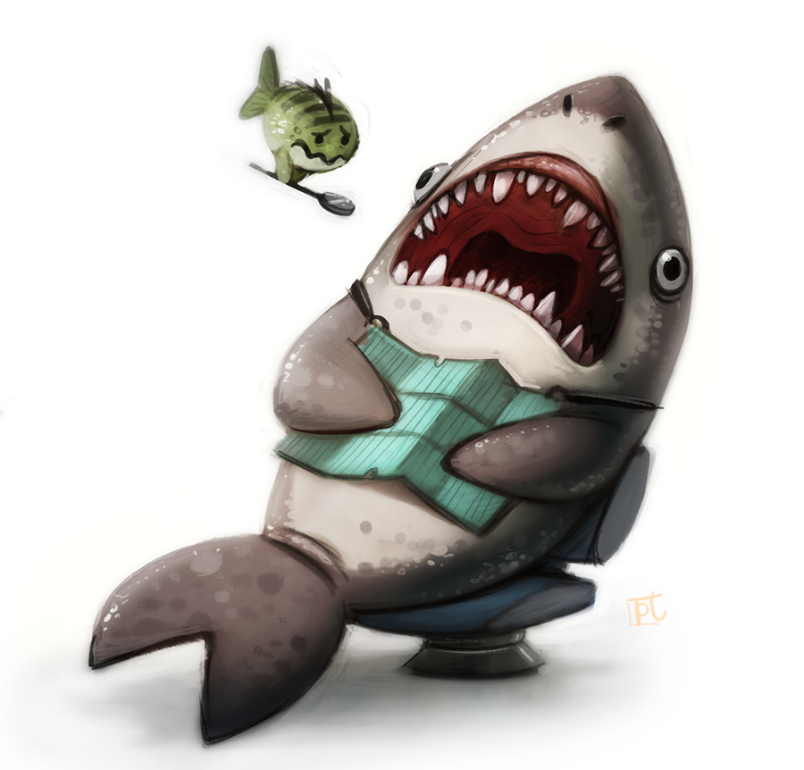 Daily Paint #627 - Shark Dentist by Cryptid-Creations