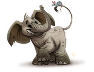 Daily Paint #630 - Elephant by Cryptid-Creations