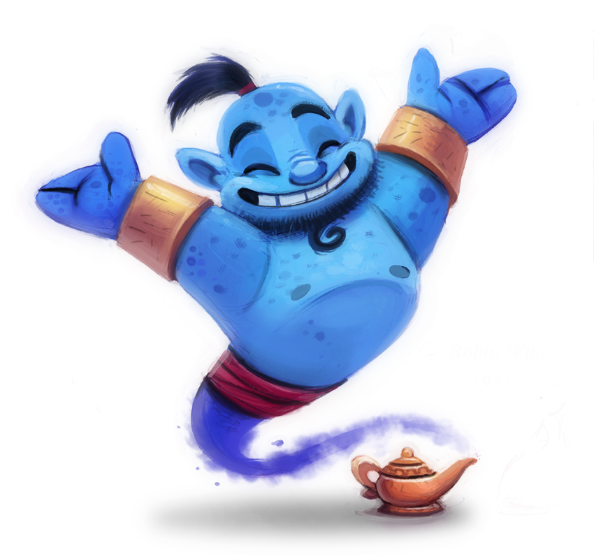 Daily Paint #631 - RIP Robin Williams :( by Cryptid-Creations