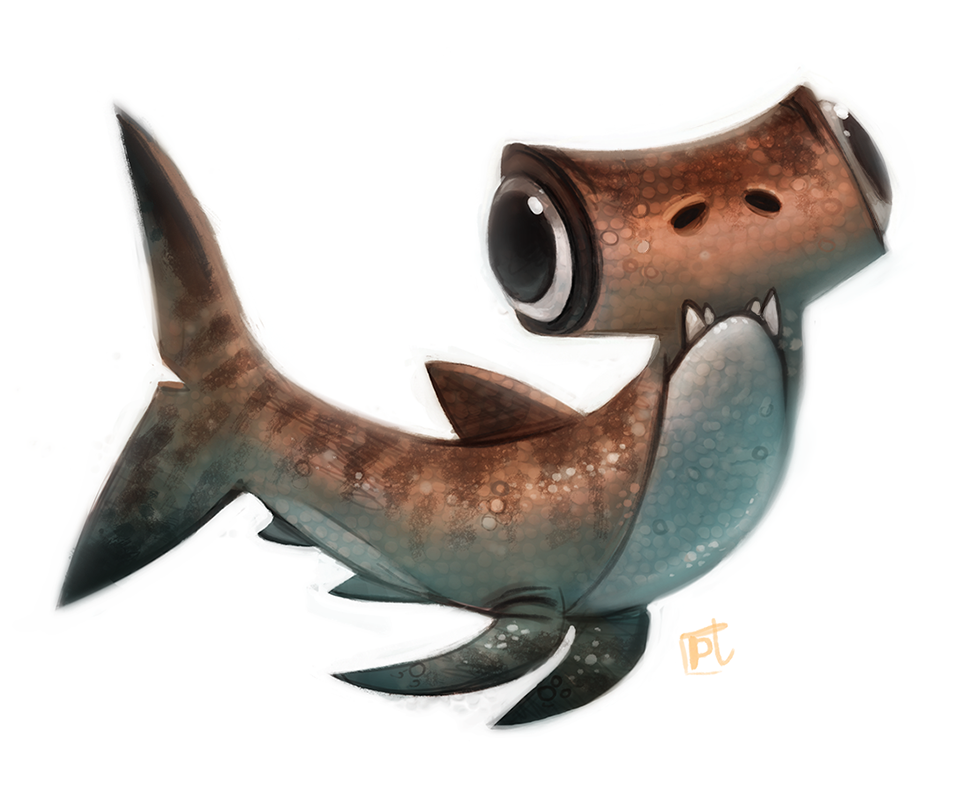 Daily Paint #632 - Hammerderp Shark by Cryptid-Creations