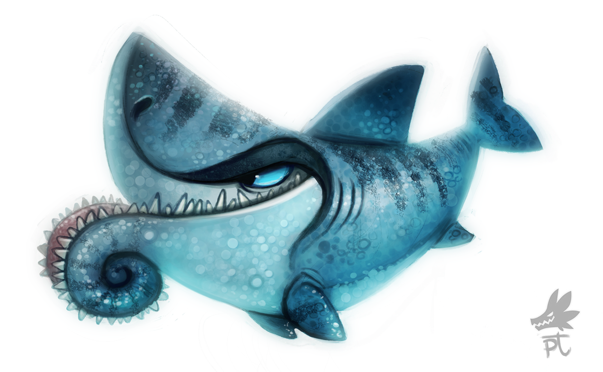 Daily Paint #633 - Helicoprion by Cryptid-Creations