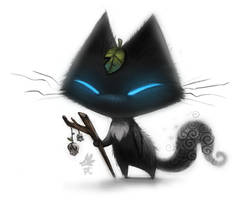 Daily Paint #636. Sidhe Cat - Quickie