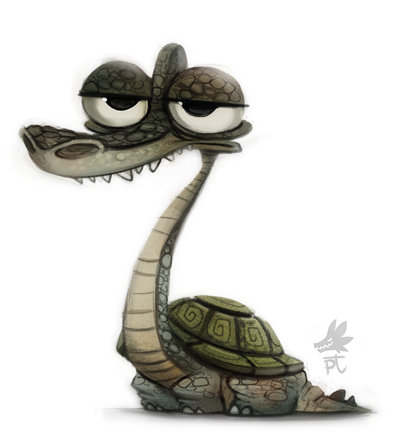 Daily Paint #637. Turtlesaurus
