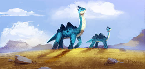Daily Paint 653. Jurassic Book. Color Board Test 2