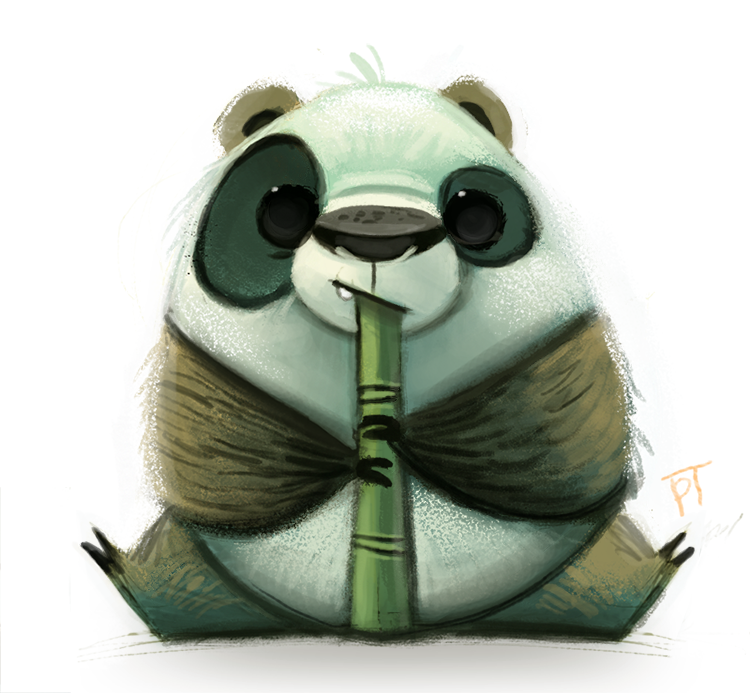 Daily Paint #671 - Panda Quickie by Cryptid-Creations