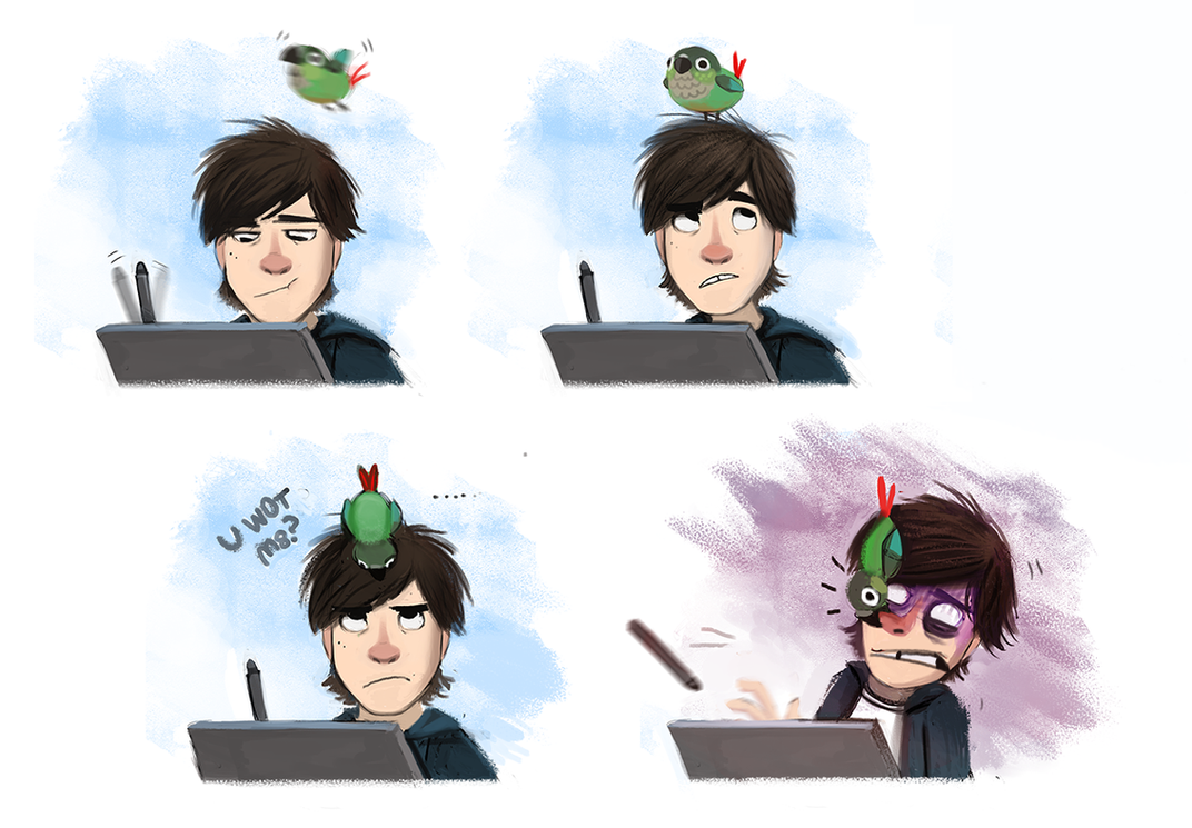 Daily Paint #681. My bird is an a-hole by Cryptid-Creations
