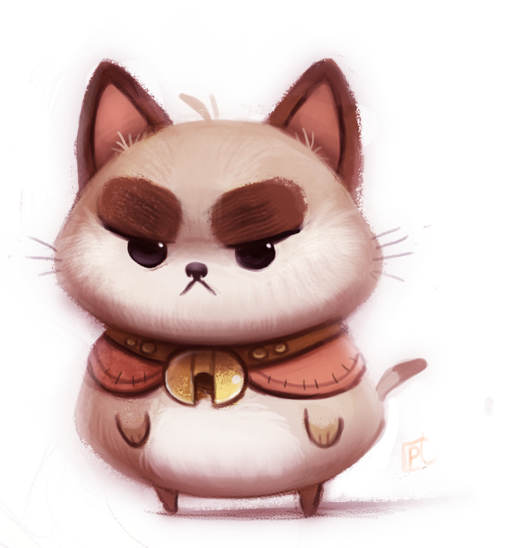 Daily Paint 683. Puppycat