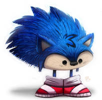 Day 693. Sanic the Heegeherg by Cryptid-Creations