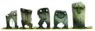Daily Painting 700# - Sidhe Stones by Cryptid-Creations