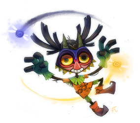 Daily Paint #716 - MAJORAS MASK CONFIRMED!! YESSSS by Cryptid-Creations