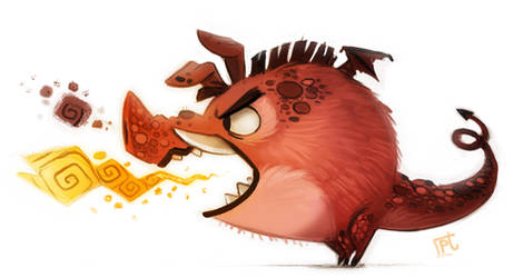 Daily Painting #717 - Pig Dragon