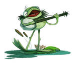 Daily Painting 743# - #KERMIT