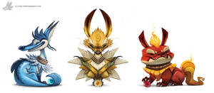 Daily Painting 756. Kanto - Eeveelutions Complete