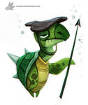 Daily Painting 757. Turtle Guard