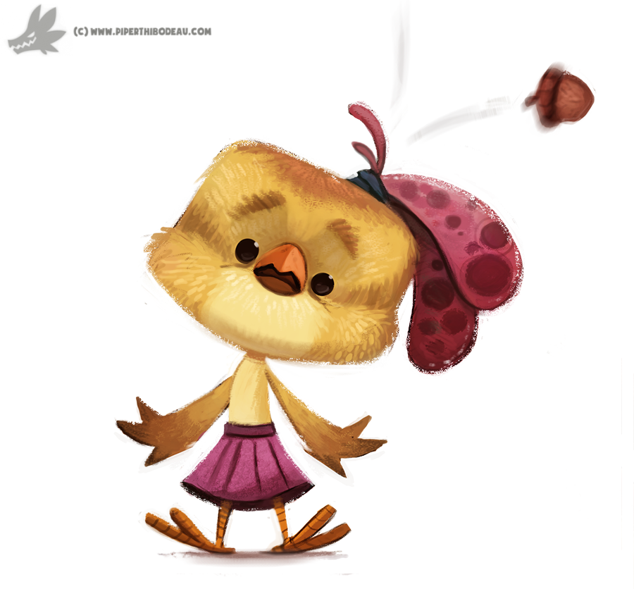 Daily Painting 760. Chicken Little Quickie by Cryptid-Creations